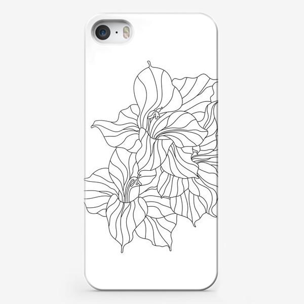 Чехол iPhone «гладиолусы контурные»