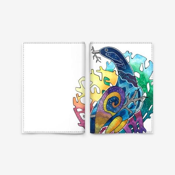 Обложка для паспорта «Радужная птица. Радуга»