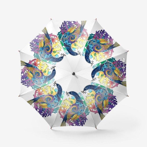 Зонт «Радужная птица. Радуга»