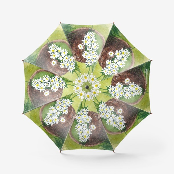 Зонт «Корзина с ромашками»