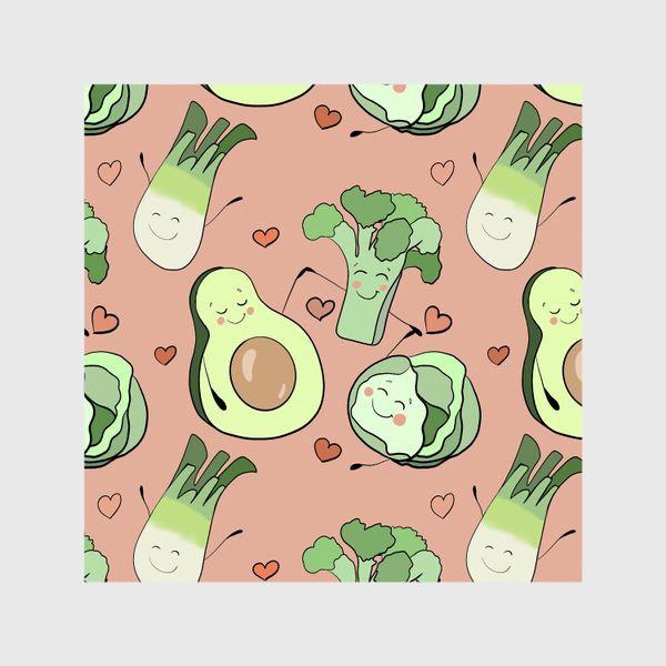 Шторы «Овощи персонажи Авокадо  »