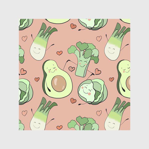 Скатерть «Овощи персонажи Авокадо  »