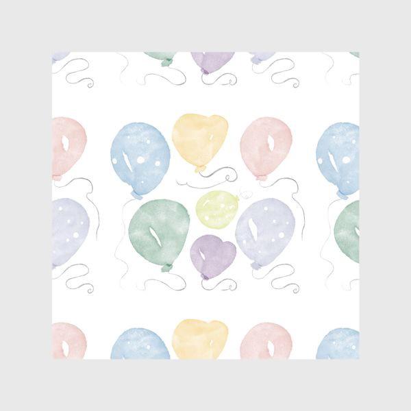 Шторы «Воздушные шарики День рождения »