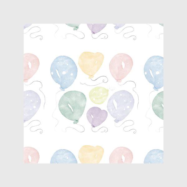 Скатерть «Воздушные шарики День рождения »