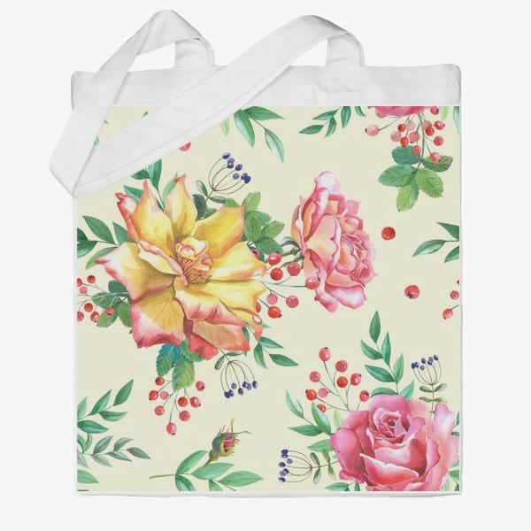 Сумка хб «Розовый сад»