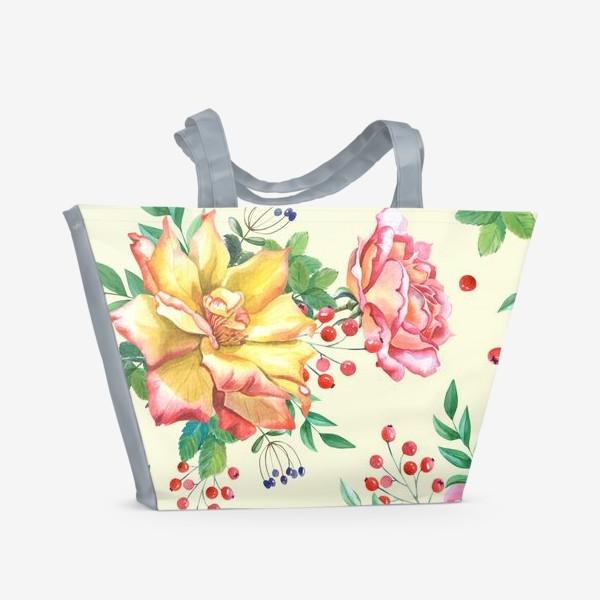 Пляжная сумка «Розовый сад»