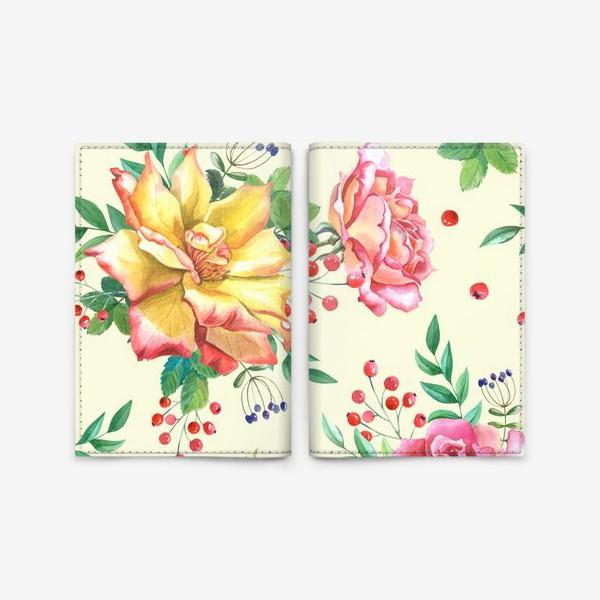 Обложка для паспорта «Розовый сад»