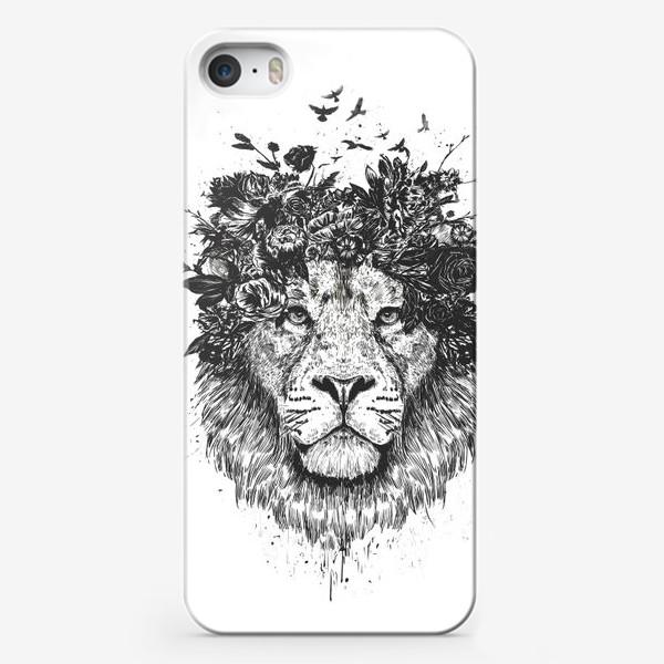 Чехол iPhone «Floral Lion автор Balazs Solti»