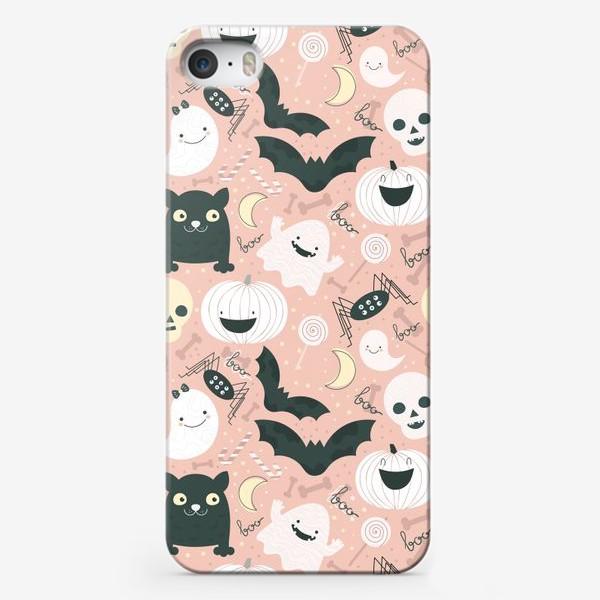 Чехол iPhone «Хэллоуин в розовых тонах»