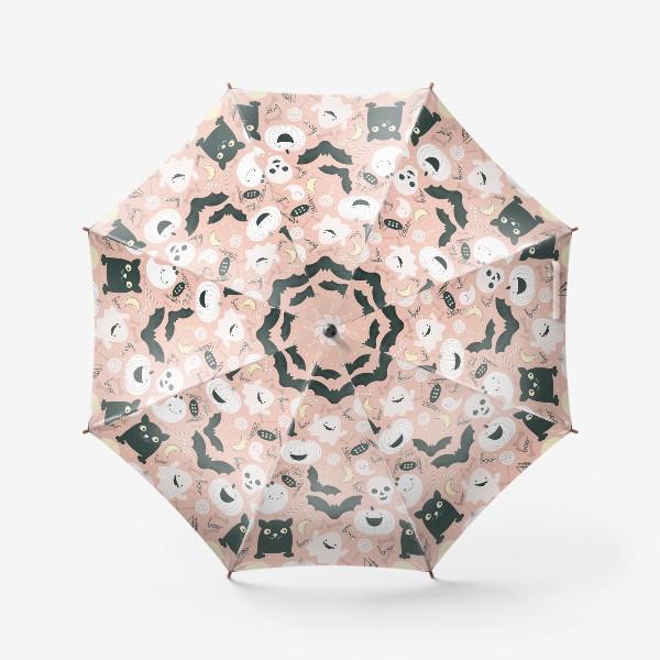 Зонт «Хэллоуин в розовых тонах»