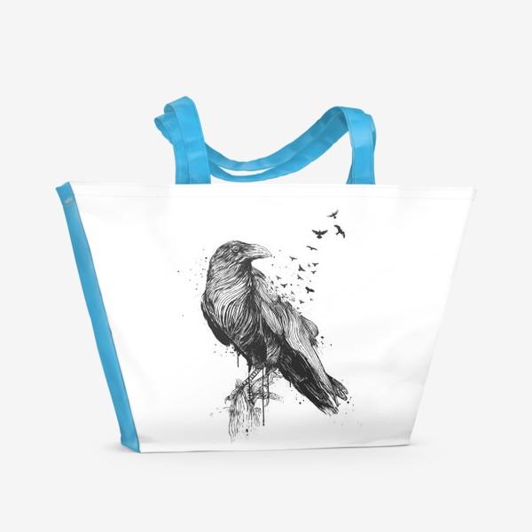 Пляжная сумка «Born to be free BW автор Balazs Solti»