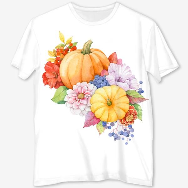 Футболка с полной запечаткой «Осенняя композиция»