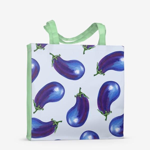 Сумка-шоппер «Акварельные баклажаны»