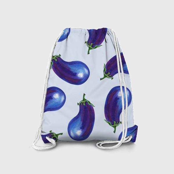 Рюкзак «Акварельные баклажаны»