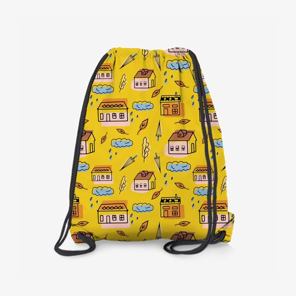 Рюкзак «Домики на желтом.Осень.»