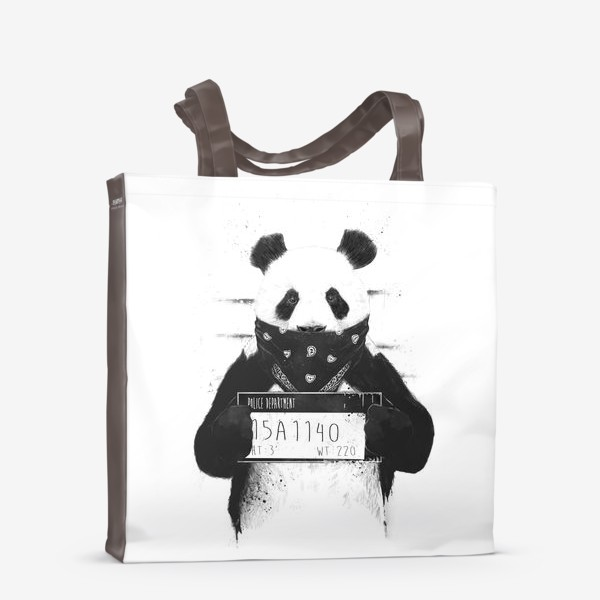 Сумка-шоппер «Bad Panda автор Balazs Solti»