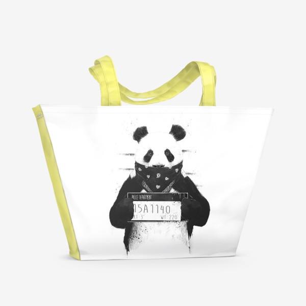 Пляжная сумка «Bad Panda автор Balazs Solti»