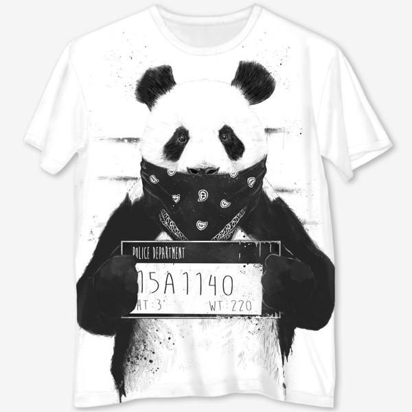 Футболка с полной запечаткой «Bad Panda автор Balazs Solti»
