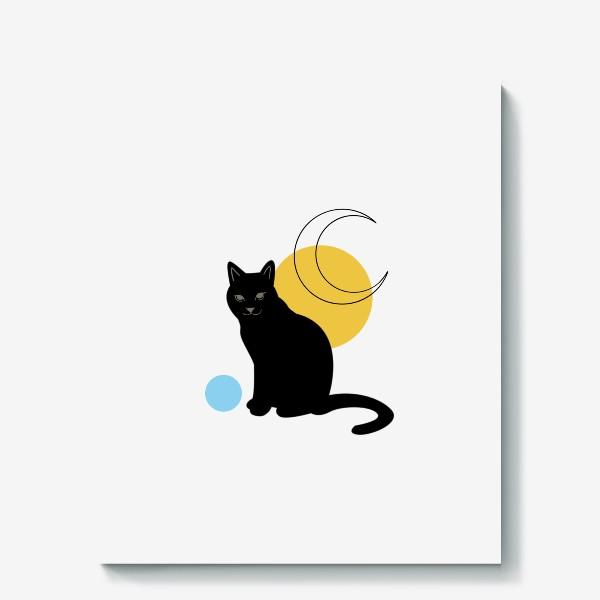 Холст «Котик абстракция»