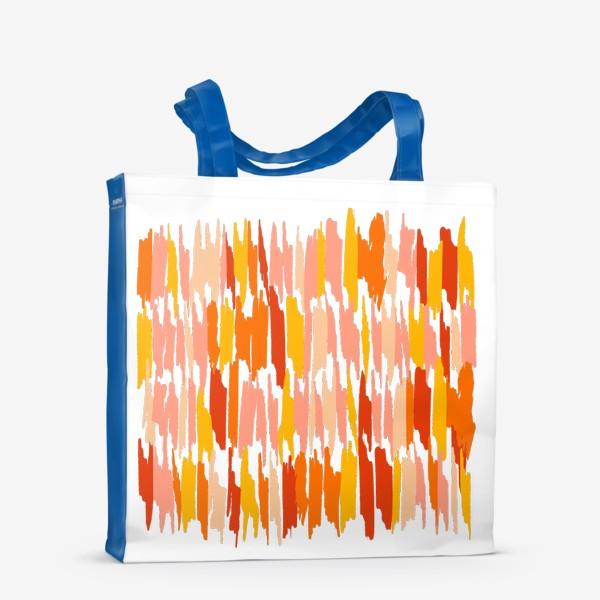 Сумка-шоппер «яркие мазки краски»