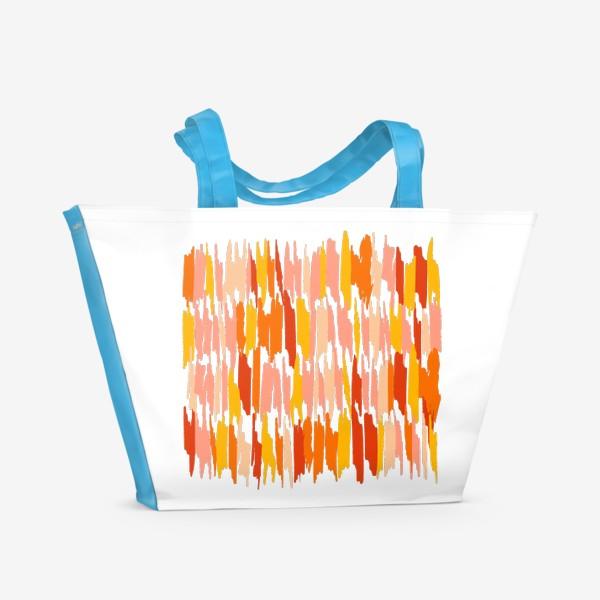 Пляжная сумка «яркие мазки краски»