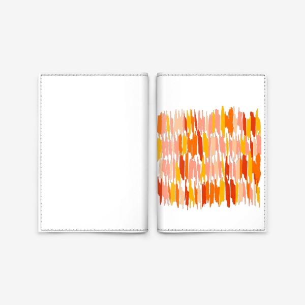 Обложка для паспорта «яркие мазки краски»