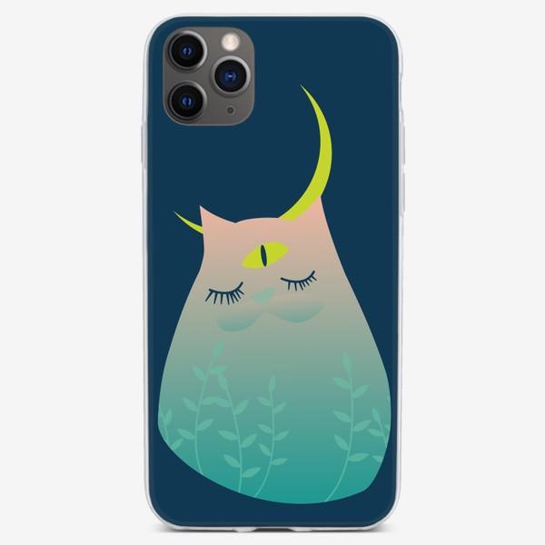 Чехол iPhone «Лунный кот»
