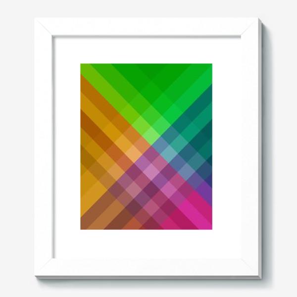 Картина «Красочный разноцветный узор в клетку»
