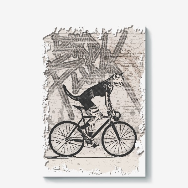 Холст «Cat Punk Rider»