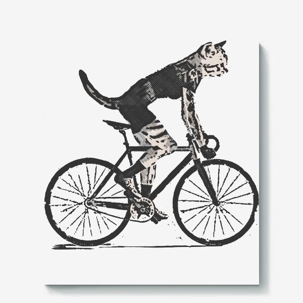 Холст «Cat Bike Punk Rider»