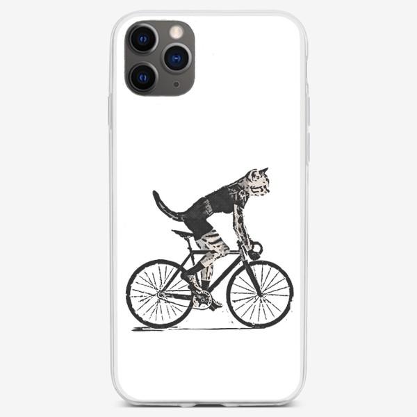 Чехол iPhone «Cat Bike Punk Rider»