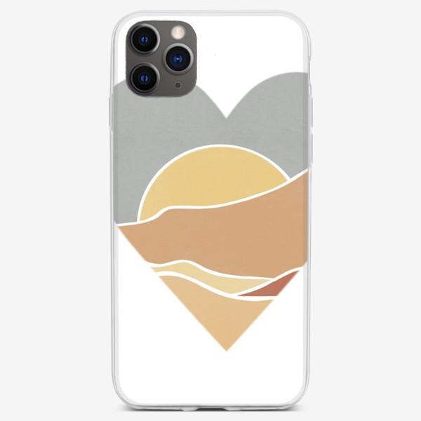 Чехол iPhone «Закат минимализм любовь сердце»