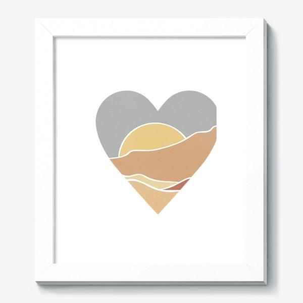 Картина «Закат минимализм любовь сердце»