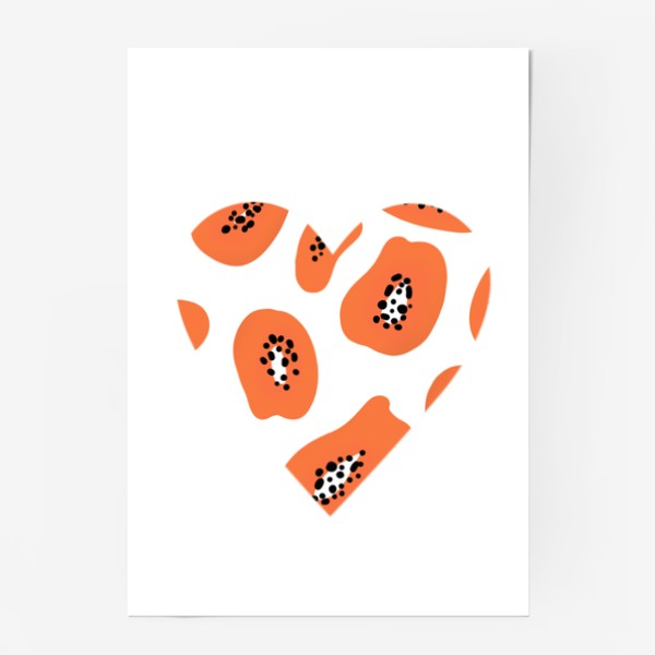 Постер «Папайя любовь сердце»