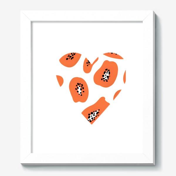 Картина «Папайя любовь сердце»