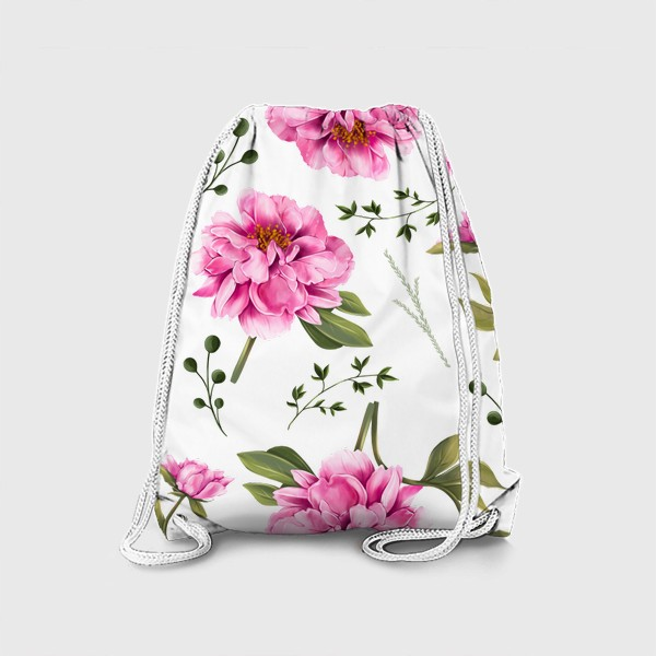 Рюкзак «паттерн Пушистый пион»