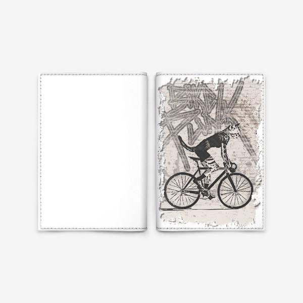 Обложка для паспорта «Cat Punk Rider»