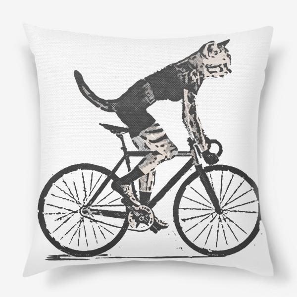 Подушка «Cat Bike Punk Rider»