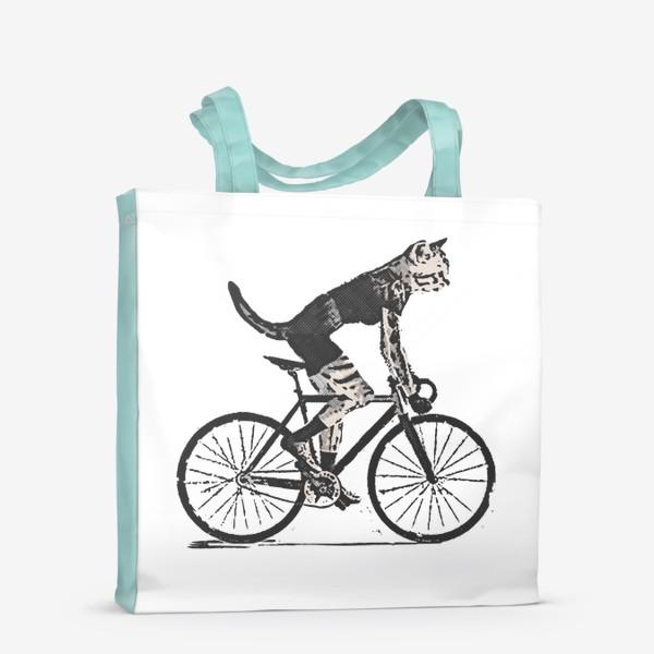 Сумка-шоппер «Cat Bike Punk Rider»