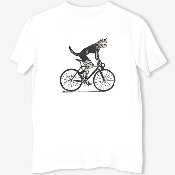 Футболка «Cat Bike Punk Rider»