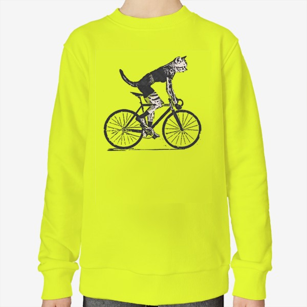 Свитшот «Cat Bike Punk Rider»