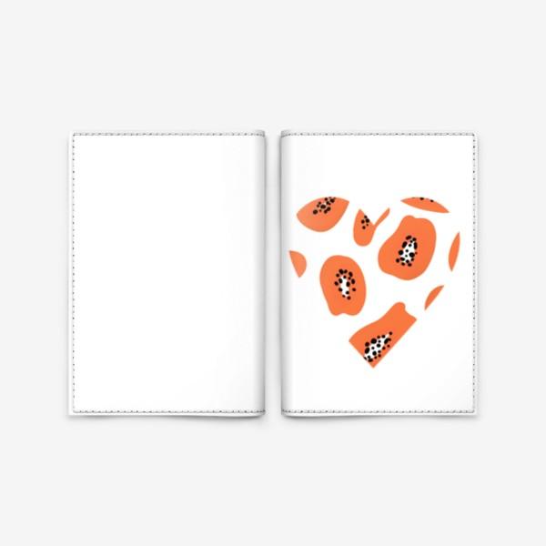 Обложка для паспорта «Папайя любовь сердце»