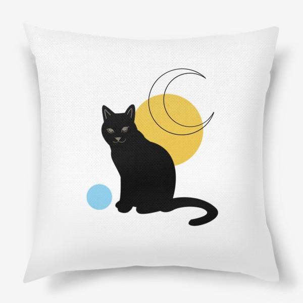Подушка «Котик абстракция»