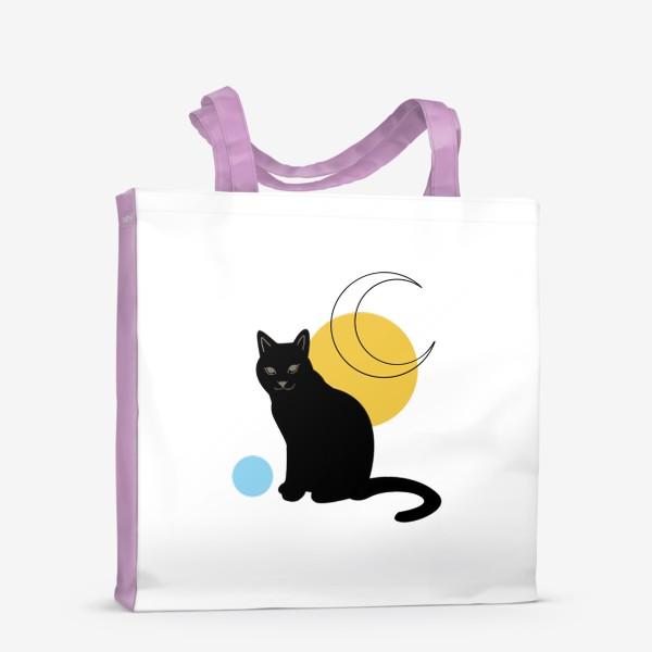 Сумка-шоппер «Котик абстракция»