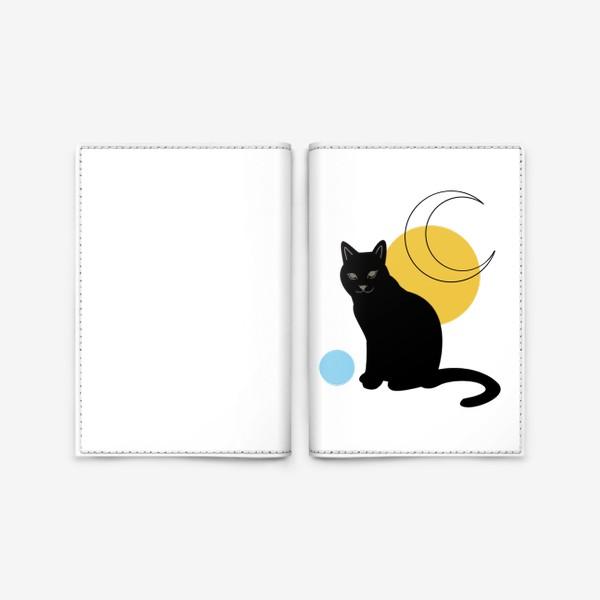 Обложка для паспорта «Котик абстракция»