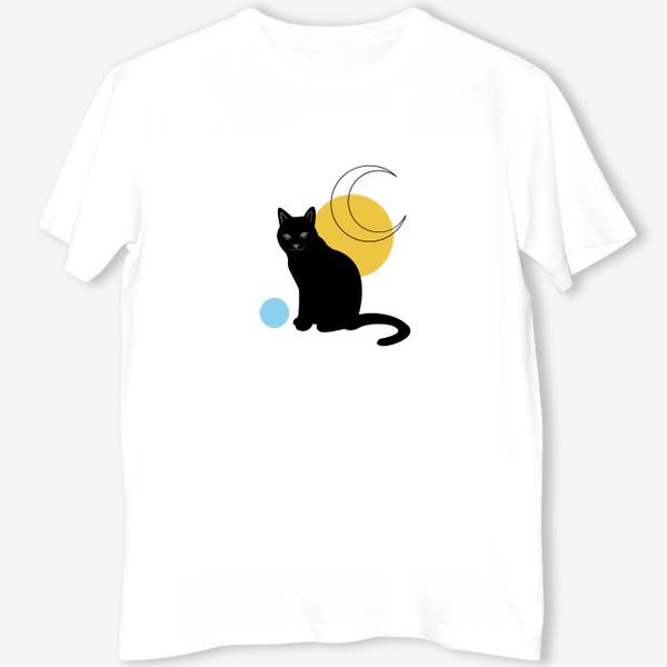 Футболка «Котик абстракция»