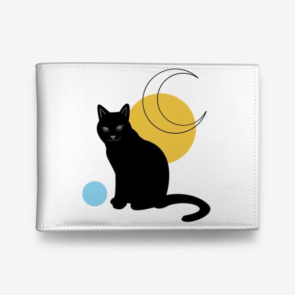 Кошелек «Котик абстракция»