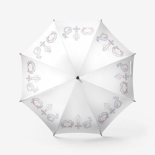 Зонт «Краб/Кальмар/Креветка»
