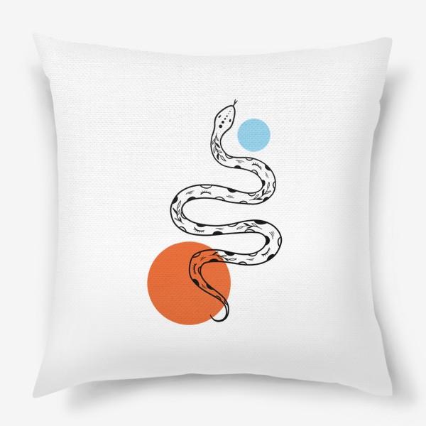 Подушка «Змея абстракция»