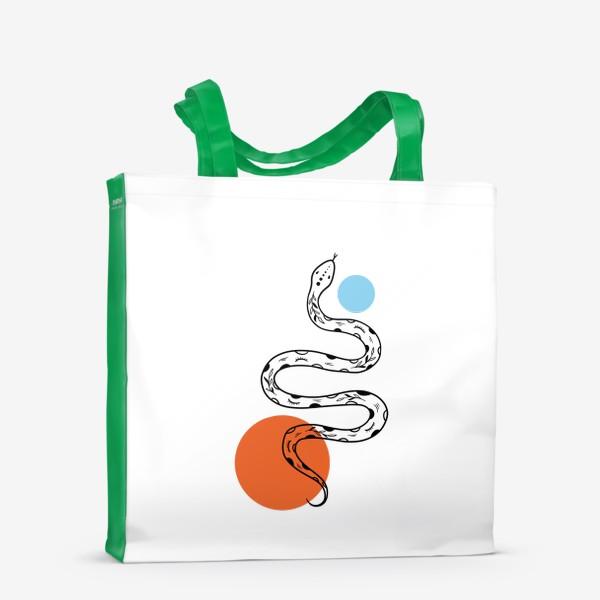 Сумка-шоппер «Змея абстракция»